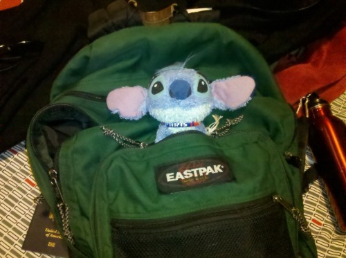 Stitch is all set to go to Canada!
