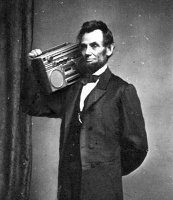 Abe and his Ghetto Blaster…