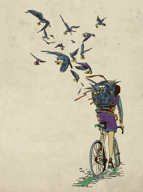 TweetJourney by Chalermphol Harnchakkham Print available at society6.  Artist: twitter / website / flickr (via: Chalermphol's tumblr huebucket)