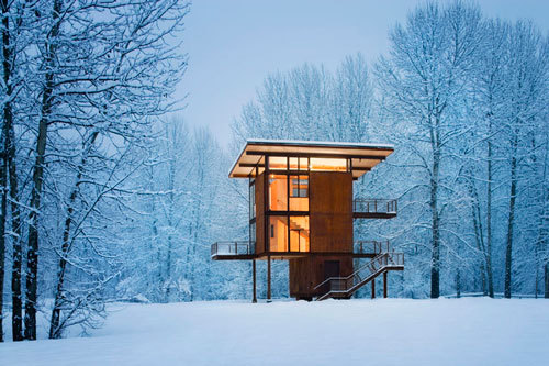 simplypi:   Delta Shelter by Olson Kundig Architects. Photo Tim Bies