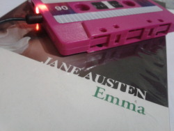 Testing my Cassette mp3 player while reading Emma by Jane Austen