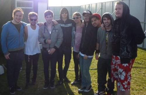 Me and some of the other members of BLA with some members of Young Guns & Matt from Funeral For A Friend =D