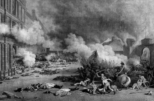 On 10 August 1792 the Paris Commune stormed the Tuileries Palace and massacred the Swiss Guards.