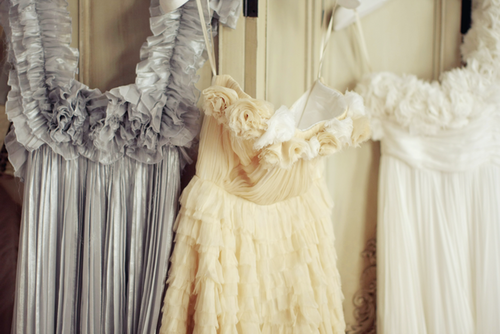 Pretty ruffled dresses.