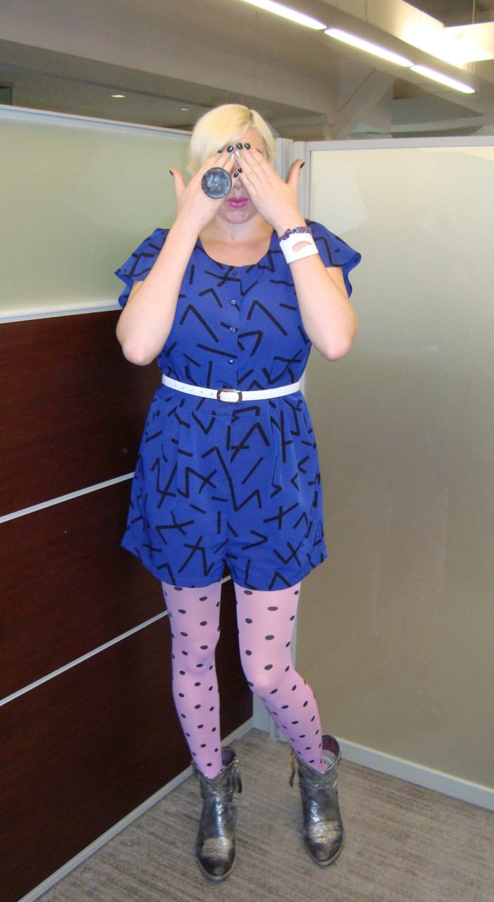 PLAYING PEEK-A-BOO BECAUSE THIS OUTFIT BELONGS ON A TODDLER tights: we love colors onesie: silence+noise ring: dinosaur designs