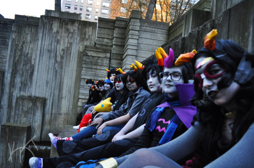 More of my Eridan cosplay /face touches this entire group photog: rinakat