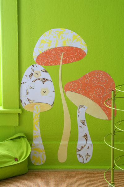 craftjunkie:  Mushroom Wall Accent {Template and Inspiration} Found at: diyideas