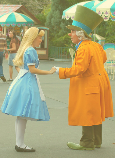 ALICE AND HATTER AT DISNEY WORLD (by wrightstepdancer)