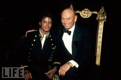 Michael Jackson and Yul Brynner, 1984.