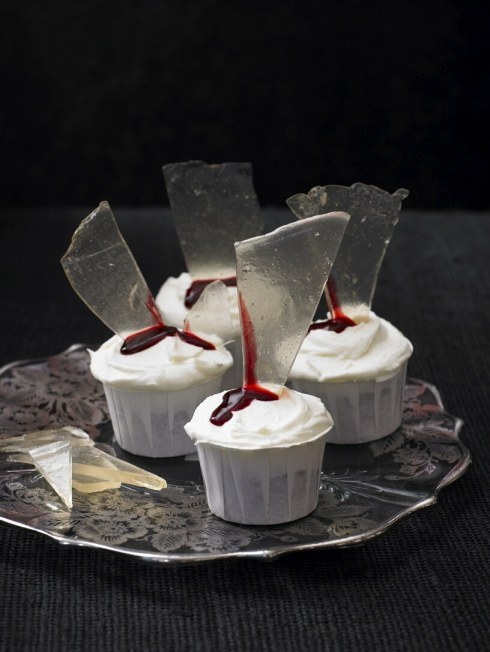 Bloody Glass Cupcakes from the book A Zombie Ate My Cupcake