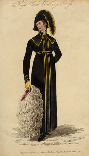 oldrags:  Hyde Park walking dress, 1810's UK This is probably the most specific outfit ever.  Could you not be seen in this outside of Hyde Park?