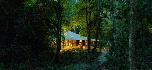 Jungle tent belonged to Amanwana luxury beach Resort, Moyo Island, West Nusa Tenggara, Indonesia.