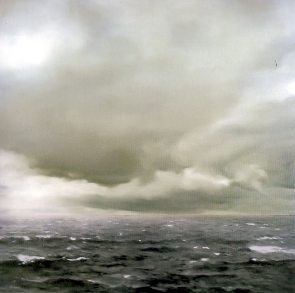 | ♕ |  {vintage}  Gerhard Richter - Seascape: Cloudy, 1969  posted by journalofanobody | via edieelee