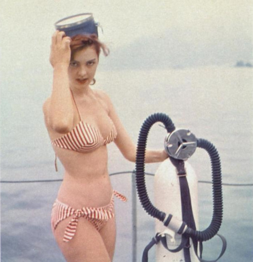 striped swim.  playboy, 1962.