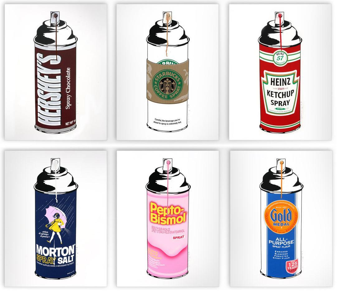 Spray Cans by Mr. Brainwash.I watched Exit Through The Giftshop last night, it's a definite must-see for every single one of my followers!