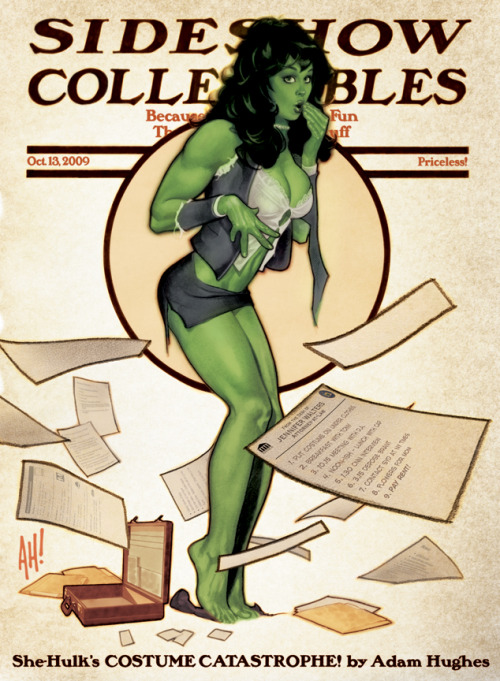 marctype:  She-Hulk by Adam Hughes