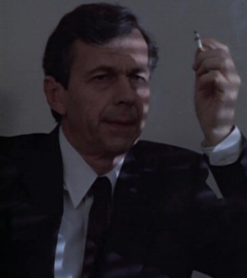 Cigarette Smoking Man, played by William Bruce Davis. Ironically, Davis is not a smoker.
