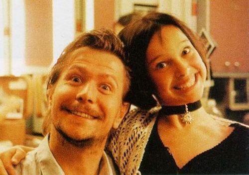 Gary Oldman and Natalie Portman Behind the scenes Leon: The Professional.