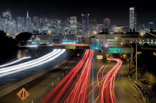 San Francisco at Night by exxonvaldez on Flickr.