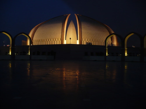 Pakistan Monument, Islamabad, Pakistan. Basically: This is what I did today, went with my family to enjoy the monument and the view of Islamabad from the plateau.
