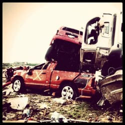 Tornado wreckage in Joplin, MO taken by NBC News cameraman Aaron Sasson. http://instagr.am/p/EqbpK/