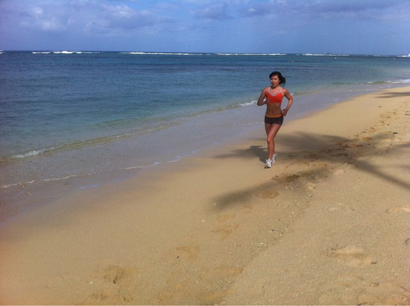 Beach run!!! Waikiki style. Just getting started with my day - my lil sis snapped this at the end of our 5 mile dash. Workout buddies make getting fit so much easier, especially on vacay. Do you have a workout buddy?  Btw, I see all of your questions but getting wifi is not easy here since I'm in the water or hiking most of the time. I'm gonna answer when my vacay is over. For now, keep asking I'll get back to you soon! Promise!  Enjoy the Hawaii pics!  Love, Cassey