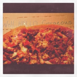 Day 76: Meat Lover's with tomatoes. A nice pop of color and flavor! #pizza (Taken with instagram)