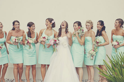 Bridesmaids, I have 7. I would love for each of them to wear a flower in their hair as well.