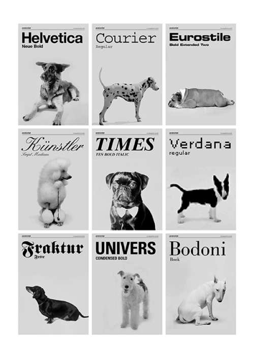 designoclock:  If dogs were fonts