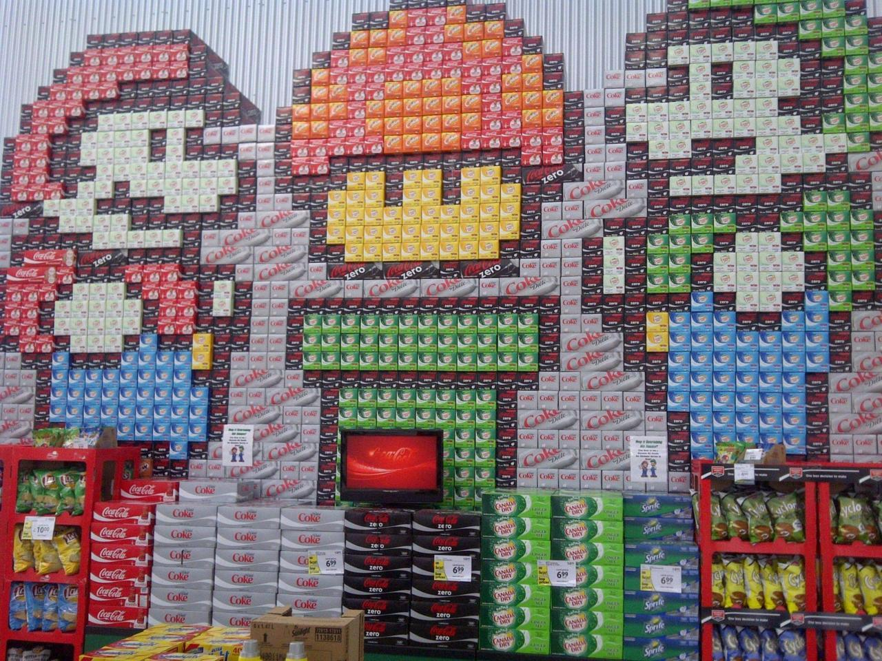 gamefreaksnz:  (via Possibly the best picture made from cases of pop I've ever seen… (x-post from /r/pics) : gaming)