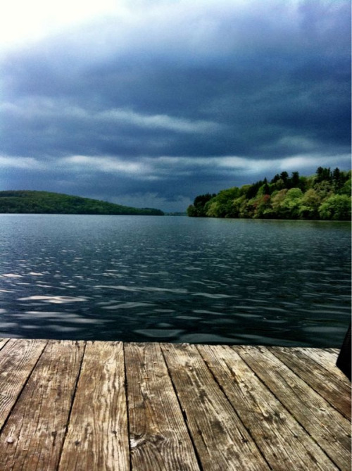 Ominous clouds approach Lake Cochickewick