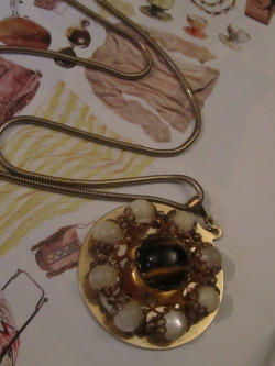 thank you, vintage tiger eye pendant… for being there at the estate sale waiting for me!