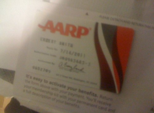 Evidence that SFB is run by old farts: I just got my AARP membership card in the mail today. Sure makes me feel better about turning 30. (Then again, looking at the benefits … I wonder if I could fake it.) — Ernie @ SFB