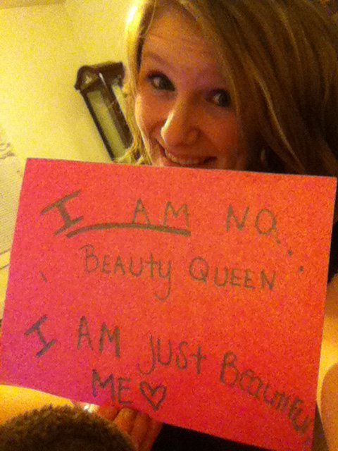 "I AM  no beauty queen; I am just beautiful me THE ""I"" MOVEMENT : BE PART OF A MOVEMENT TO INSPIRE THE WORLD! send me a link of your photo or submit it here"