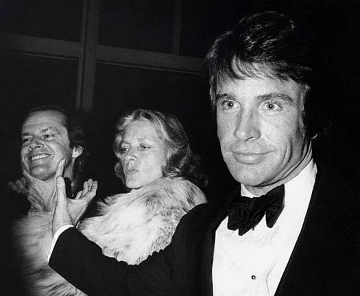 Jack Nicholson, Lauren Baccall and Warren Beatty