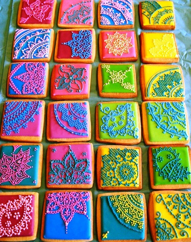 daintyloops:  Mehndi inspired cookies (by sugarsugargal (Fiona))
