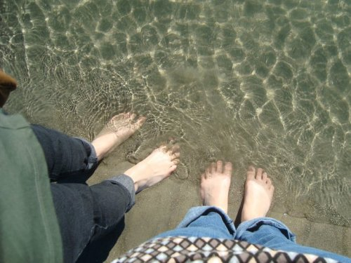 Feet in the Pacific // Jan. '11 (Photo by Sara)