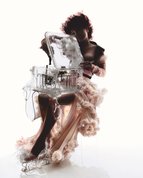 Bjork wearing Alexander McQueen photographed by Nick Knight