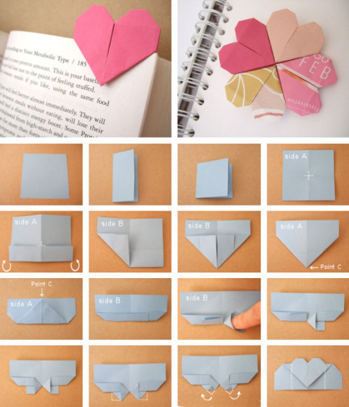 Heart Page Markers (by ohcrafts)