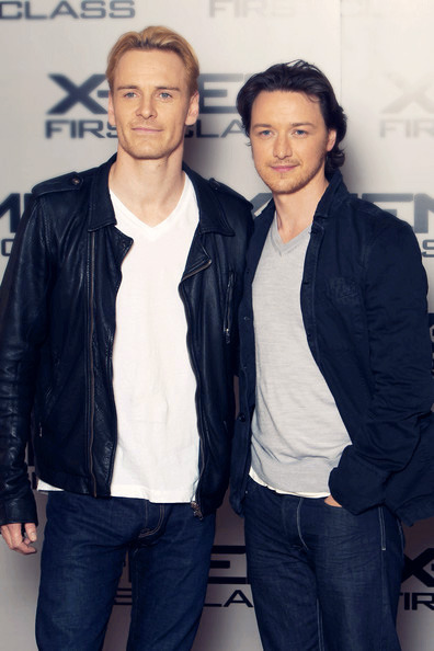 Michael Fassbender and James McAvoy in X-Men First Class Promo.