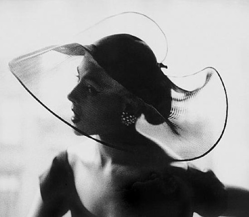 Translucent Hat, 1950 by  Lillian Bassman *