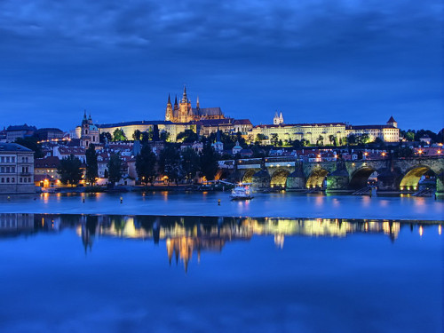 Prague Castle Blue Hour by Mike G. K. on Flickr.