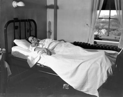 46-year-old Marguerite Halvorson at Methodist Hospital in Madison, WI. 1936. This was her 17th baby, and it was noted that she was a poor woman who had 16 of her 17 kids survive childhood. I find that fascinating and impressive (even for a more wealthy person), but at the same time, she's in a private room and giving birth in a hospital. It may have been more and more common for childbirth to occur in hospitals, and it was pretty much everywhere by 1940, but the fact that she was in a private room makes me feel that she wasn't as terribly impoverished as many of the women who gave birth to huge numbers of children in the large East coast cites and in Ireland.
