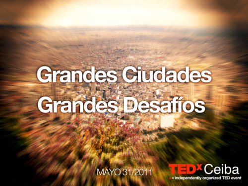 On the 31st of May we are celebrating the 3rd edition of TEDxCeiba in Bogota, Colombia. This event is a conversation around challenges within big cities. The speakers will bring lots of different views of what a city is  and how to be part of it —  we hope you can join the conversation. Submitted by Juan Pablo Calderón, TEDxCeiba Organizer