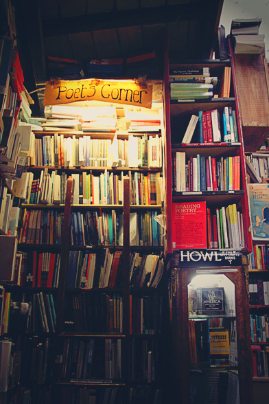 bcureg:  Shakespeare and Co bookshelf. Paris, France Taken by my sister  To my fellow lit majors. I took this photo for you. Hopefully my sister uploaded and made the hi-res viewable so you guys can check out the titles. I wish you guys could've been there with me - they may not have understood quite as well as you the thoughts and emotions going through me.