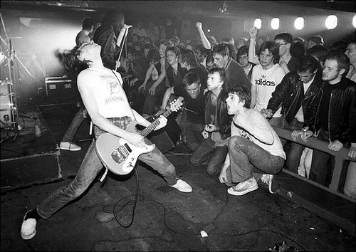 The Ramones on stage…