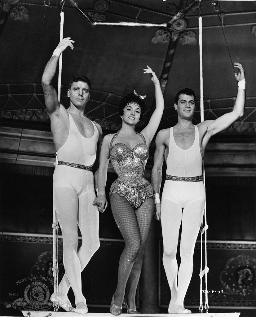 samwanda:  Burt Lancaster, Gina Lollobrigida and Tony Curtis in Trapeze [1956] ♥ ♥ ♥
