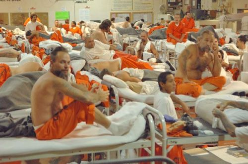 """More than 162,000 inmates currently reside in California's  prison  system. For years, many facilities have held nearly twice the number of  prisoners they were built for."" Incredible photos from inside California's prisons from Mother Jones. Follow them on Tumblr."