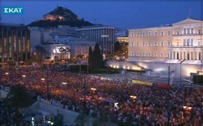 Syntagma Square, Athens, May 25th 2011. Happily, the Spanish revolution seems to have spread to Greece. Go, Greeks, go! (via http://yfrog.com/h8d778j)