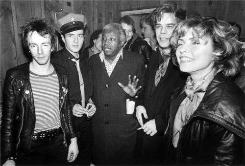 The Clash with Al Fields, David Johansen and Debbie Harry, NYC, 1979